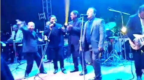 mukul sangma, meghalaya ministers sing beatles song, meghalaya minister sing and dance beatles song, shillong ministers sing and dance to beatles, mukul sangma dances to beatle song, mukul sangma donkupar roy paul lyngdoh beatles song, mukul sangma sings beatles song, mukul sangma donkupar roy beatles song, indian express, indian express news, indian express trending, viral
