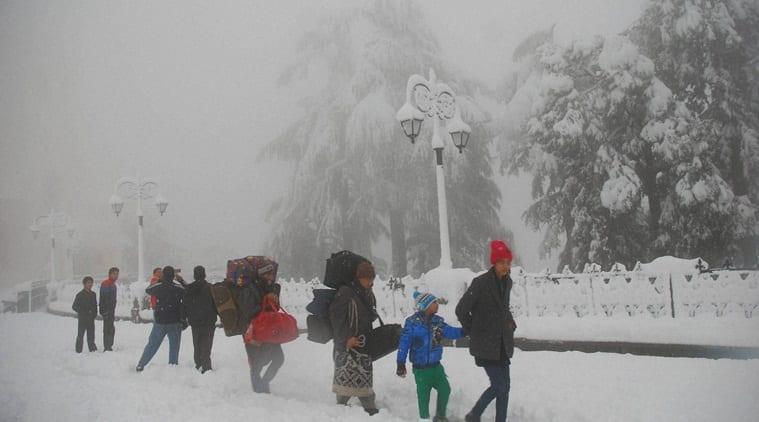Shimla, Shimla heavy snowfall, Shimla snowfall, shimla snow, shimla temperature, shimla weather, snowfall, india news, indian express