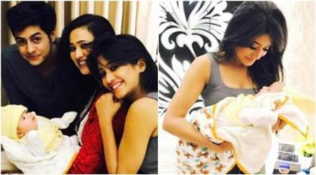 Shweta Tiwari reveals first image of her newborn son and he's just so cute, see pics