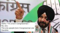 Navjot Singh Sidhu says 'I am a born Congressman'; this is what Twitterati had to say