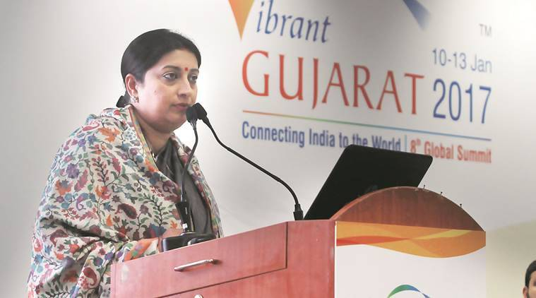 textile minister Smriti Irani, Smriti Irani GST, Textile India 2017, MoU between India and Australia, Indian express, India news, Latest news
