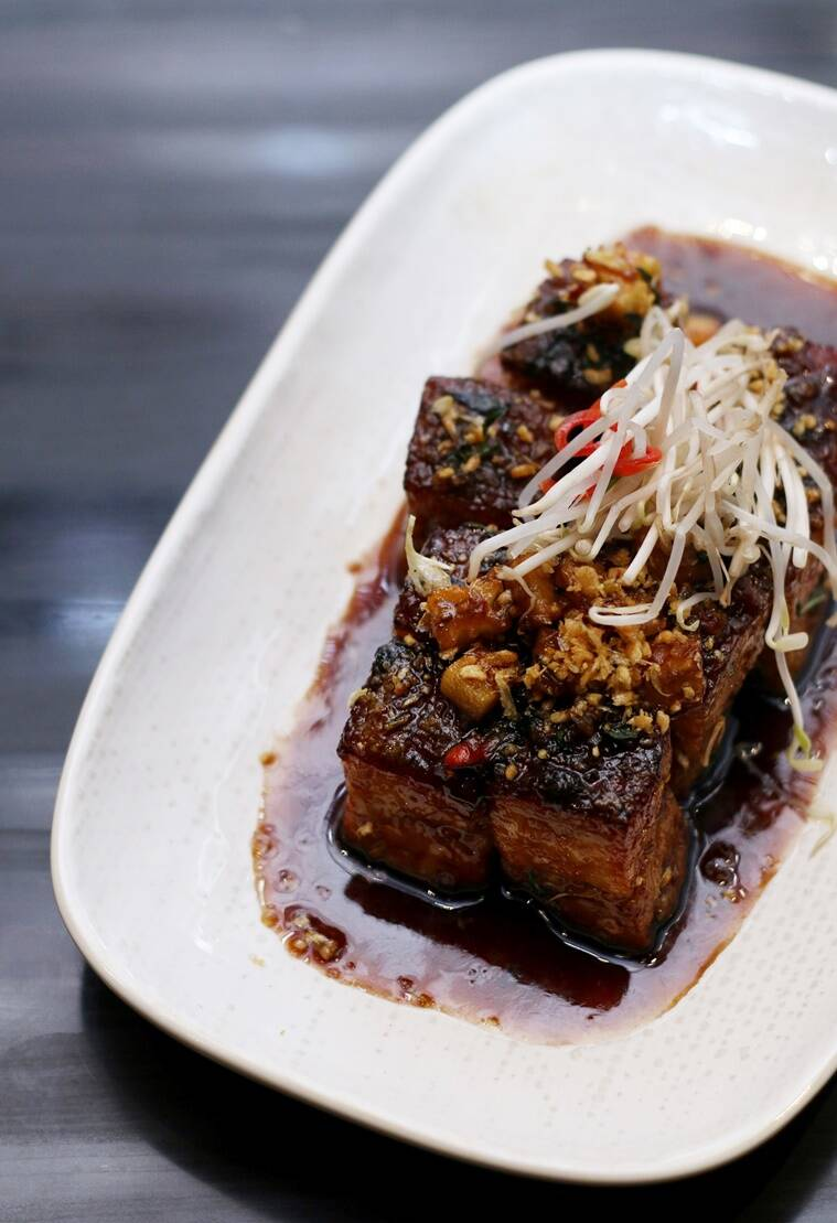 Spiced Caramelised Pork Belly with Pineapple and Crispy Garlic by Chef ...