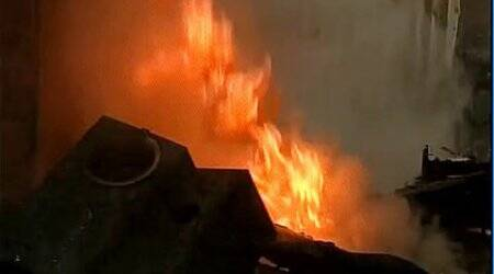 Srinagar: Two banks, post office gutted in fire at LalChowk