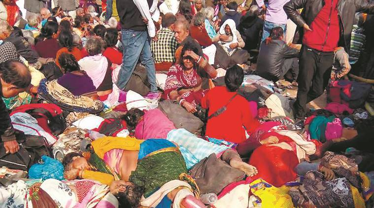 Stampede, Gangasagar stampede, Gangasagar, stampede at Gangasagar, Gangasagar fair, six dead- Gangasagar stampede West Bengal Gangasagar fair, six dead-Gangasagar fair stampede, West Bengal, latest news, West Bengal stampede, India news, Gan Indian Express