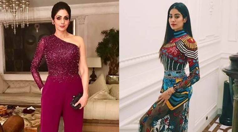 Image result for Sridevi and Jhanvi Kapoor