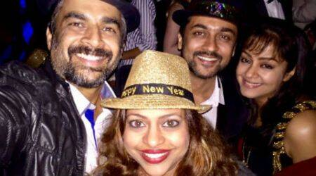 Madhavan, Suriya, Jyothika party hard in Dubai on New Year's Eve, see pic