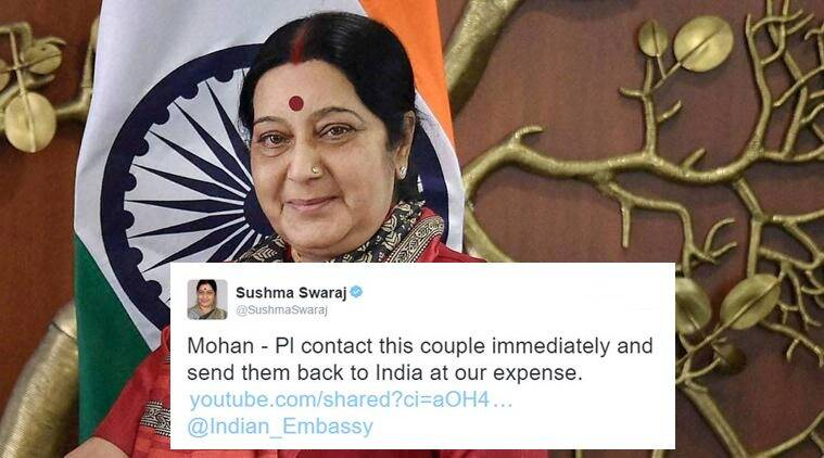 sushma swaraj, sushma swaraj twitter, sushma swaraj tweet, sushma swaraj france, sushma swaraj france tweet, sushma swaraj twitter, sushma swaraj twitter seva, sushma swaraj twitter, external affair minister sushma swaraj, indian express, indian express news, indian express trending, indian express viral
