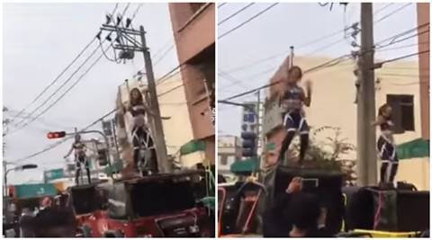 taiwan, taiwan pole dancer funeral, taiwan dancing funeral, taiwan dancing funeral procession, taiwan politician stripper dancing funeral, viral video, trending video, indian express
