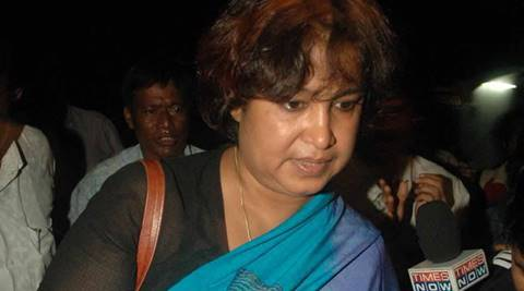 Amid AIMIM Workers' Protest, Taslima Nasrin Sent Back FromAirport