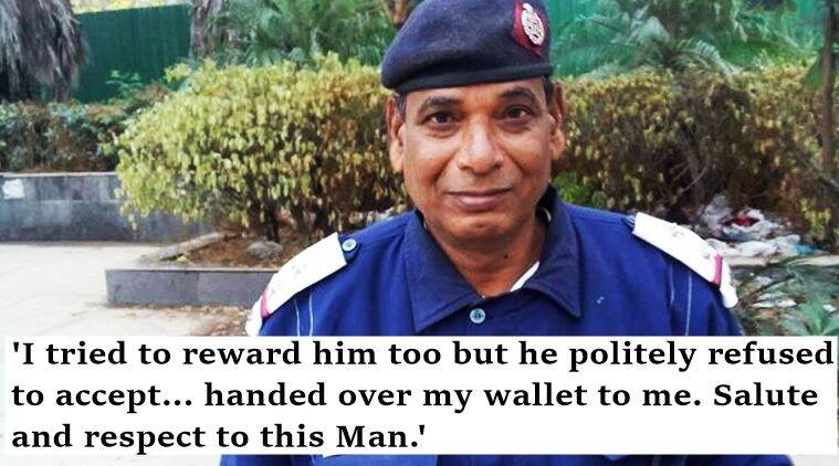 traffic policeman, delhi policeman safety,, traffic policeman returns wallet, traffic policeman safety, indian express, trending Facebook, indian express, indian express news