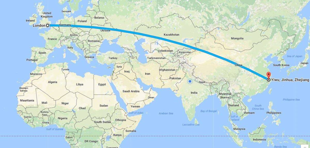 india to china train route map China S Freight Train To London Travels 12 000 Km In 18 Days India News The Indian Express india to china train route map