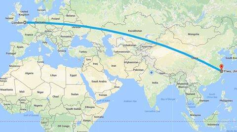 china train route map China S Freight Train To London Travels 12 000 Km In 18 Days china train route map