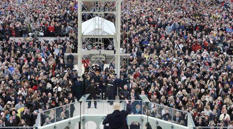 U.S. President Donald Trump speaks after taking the oath of office during inauguration ceremonies swearing him in as the 45th president of the United States on the West front of the U.S. Capitol in Washington, U.S., January 20, 2017.  REUTERS/Brian Snyder