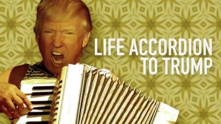 donald trump, donald trump meme, donald trump funny videos, donald trump funny memes, donald trump playing accordion, donald trump accordion, indian express, indian express news