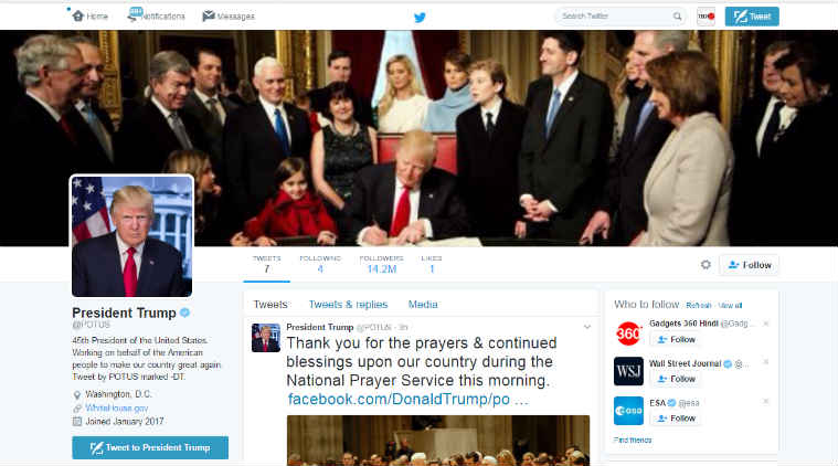 Twitter, Donald Trump, POTUS, Trump Twitter account, Twitter glitch, Twitter technical glitch, Barack Obama, users forced to follow Trump, Twitter CEO, Jack Dorsey, POTUS Twitter account, US President Twitter, technology, technology news