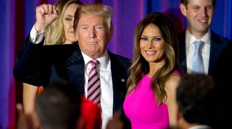 Donald Trump with wife Melania Trump. (Source: AP)