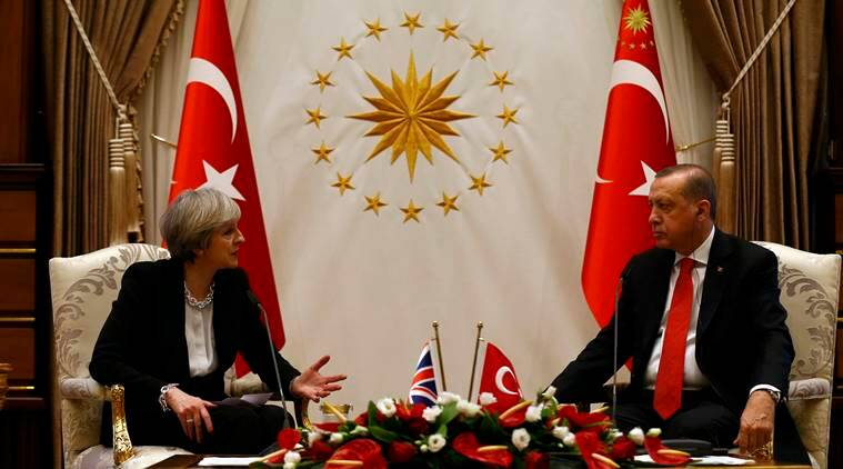 Theresa May 'to discuss trade' with President Erdogan on Turkey visit