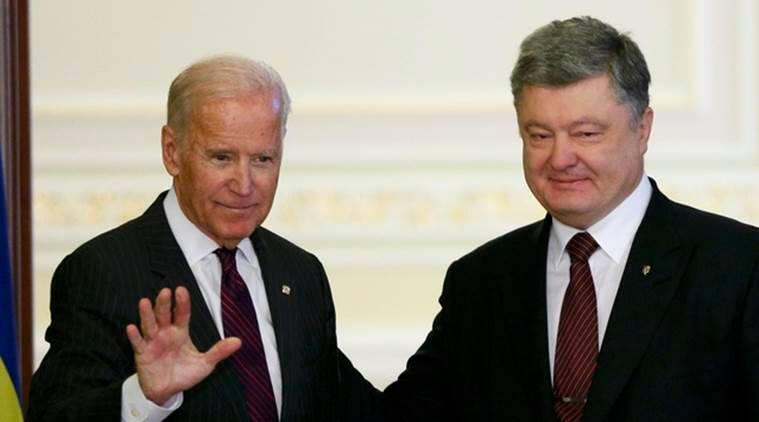 joe biden, ukraine, joe biden visits ukraine, biden in kiev, ukranian president, us vice president, Petro Poroshenko, ukraine vice president, Volodymyr Groysman, ukrain soviet country, russia, vladimir putin, ukraine capital, outgoing us vice president, us ukraine relationship, us news, ukraine news, world news, indian express