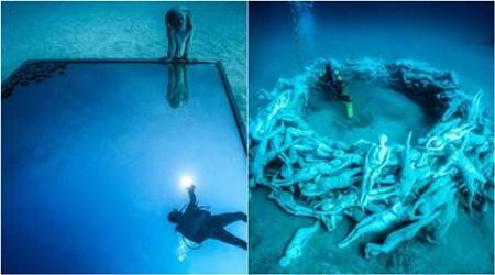 Museo Atlantico, underwater museum, Lanzarote, europe underwater museum, Jason deCaires Taylor, Jason deCaires Taylor artworks, Jason deCaires Taylor underwater works, atlantic ocean, Lanzarote underwater museum, art news, lifestyle news, latest news, indian express