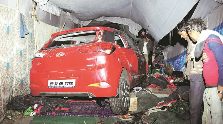 accident, lucknow accident, drink and drive, drunk driving, shelter home accident, lucknow police, indian express news, india news, lucknow news