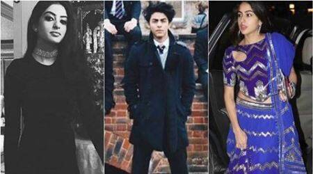 shah rukh khan, aryan khan, navya naveli nanda, suhana khan, saif ali khan, ibrahim ali khan pataudi, sara ali khan pataudi, sreedevi, jhanvi kapoor, khushi kapoor, bollywood fashion, bollywood fashion tips, indian express, indian express news, indian express trending, lifestyle