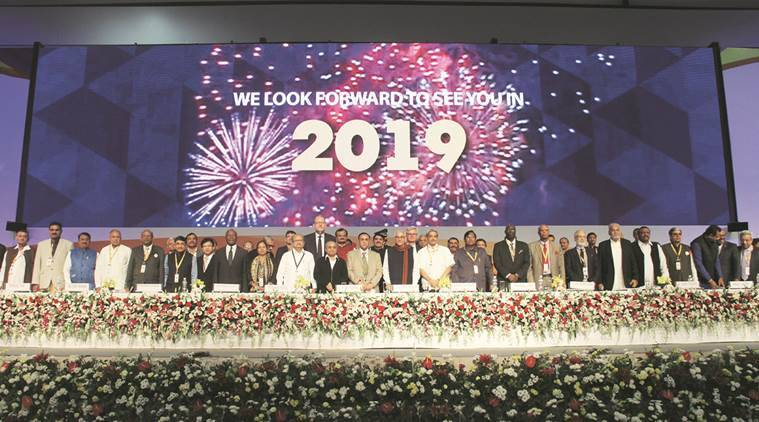 Gujarat, Chief Minister Vijay Rupani, Vibrant Gujarat Global Summit, Mahatma Mandir, Manohar Parrikar, India news, National news, India news, Vibrant Summit, India news, National news