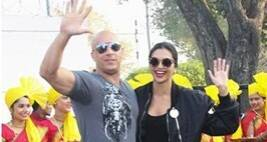 Hollywood's Vin Diesel Arrives Hand In Hand With Deepika Padukone For xXxPromotion