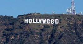 Watch: Hollywood Sign Changed To 'Hollyweed'