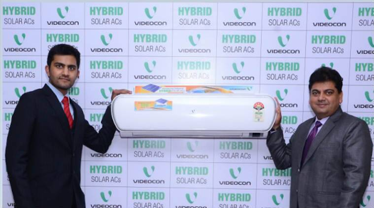 Videocon, Videocon hybric solar AC, videocon hybrid solar AC price, videocon hybrid solar AC specs, videocon hybrid solar AC features, videocon hybrid solar AC warranty, videocon hybrid solar AC power savings, videocon hybrid solar AC launch, air conditioner, technology, technology news