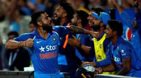 India win as Virat Kohli stars in his own debut as captain with Kedar Jadhav