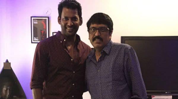 Vishal with director Unnikrishnan B, who is directing Mohanlal's next