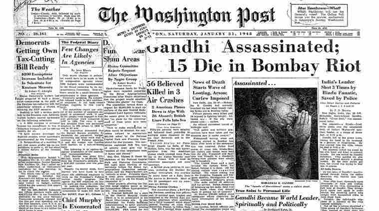 Mahatma Gandhi, Gandhi assassination, gandhi death anniversary, 30th january, Mahatma Gandhi death, Mahatma Gandhi news, Gandhi death, Gandhi death news, The new york times, The washington post, The Irish Times, The telegraph, The economist, Indian Express