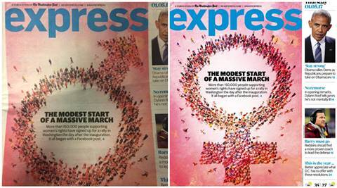washington post express, washington post express wrong cover, express male symbol for women issue, wp express male symbol women issue, washington post express male symbol, trending news, viral news, latest news