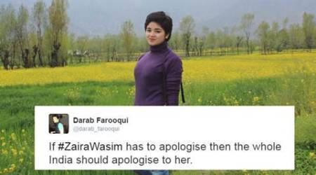 Zaira Wasim, Zaira Wasim apology, Zaira Wasim apology post, Zaira Wasim mehbooba mufti, Zaira Wasim DANGAL, dangla star Zaira Wasim, Zaira Wasim trolled, Zaira Wasim post, Zaira Wasim recent post, Zaira Wasim film, Zaira Wasim news, Zaira Wasim updates, Zaira Wasim kashmir, indian express, indian express news, kashmir, social media zaira wasim, zaira wasim apology, zaira wasim confession, zaira wasim trolled