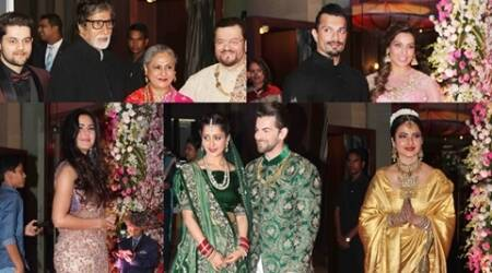 Katrina, Bipasha, Rekha, Big B, Sophie: Neil Nitin Mukesh's wedding reception was high on haute couture