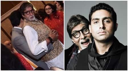 amitabh bachchan, abhishek bachchan, abhishek amitabh, bachchan family, bollywood father son duo, amitabh bachchan films, abhishek bachchan films, indian express, entertainment news, bollywood news