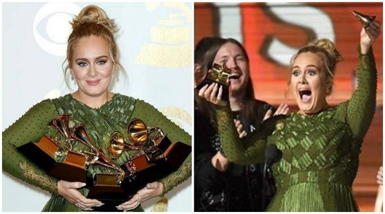 Grammys: Adele Dedicates Her Album of the Year Award to Beyonce