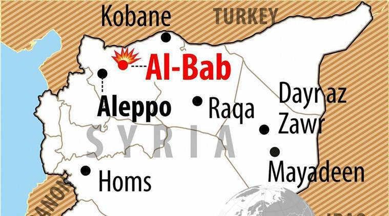 Turkey, al-bab, syria, al-bab, war monitor, islamic state, turkish border, jihadists, jihadist control, world news, indian express news