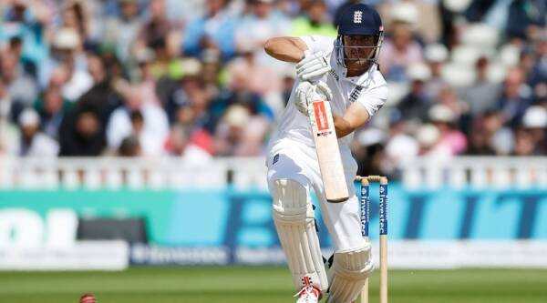England's Alastair Cook in action