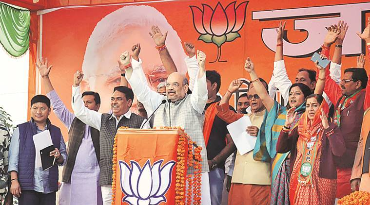 uttar pradesh elections, up polls, up poll 2017, amit shah, rahul gandhi, BJP, amit shah in amethi, amethi rally, sp government,samajwadi party, sp congress alliance, Bharatiya Janata Party, BJP UP, BJP in UP, indian express news, india news