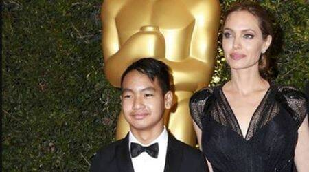 Angelina Jolie, Angelina Jolie new movie, Angelina appearance after divorce, Angelina and son Maddox, Angelina Jolie and Brad Pitt, Angelina Jolie and Brad Pitt split,