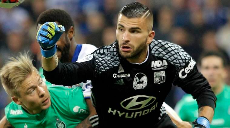 Lyon goalkeeper Anthony Lopes makes a blunder before match even ...