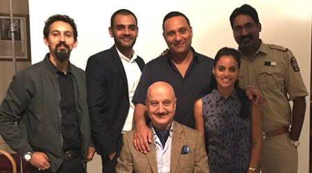 Anupam Kher, Russell Peters, Anupam Kher and Russell Peter, Anupam Kher and Russell Peter tv show, Anupam Kher and Russell Peter tv series, Anupam Kher and Russell Peter capetown, Anupam Kher and Russell Peter on the sets,