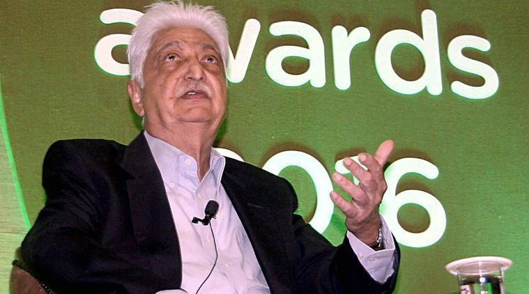 Bangalore: Chairman, Wipro Ltd, Azim Premji at an interaction session with student achievers during the 6th edition of Wipro earthian awards 2016, at Wipro campus in Bangalore on Saturday. PTI Photo(PTI2_4_2017_000062B)