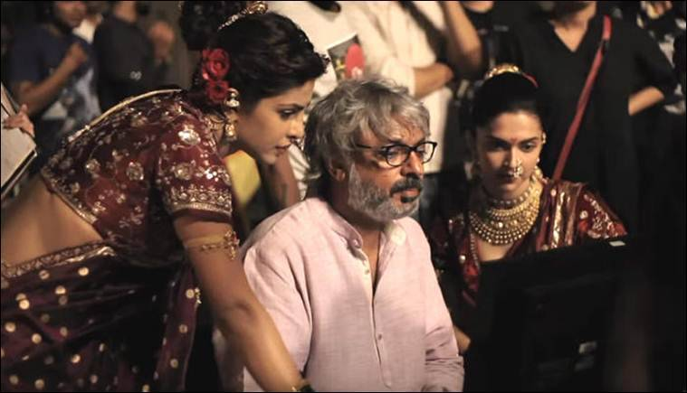 A pic from the sets of Sanjay Leela Bhansali's Bajirao Mastani.