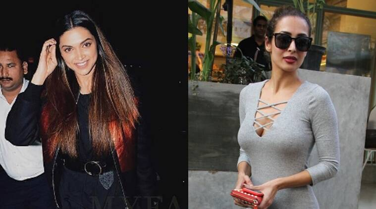 From L to R: Both Deepika Padukone and Malaika Arora Khan show us how to do basics in style. (Source: Instagram, myfashgram/Varinder Chawla)