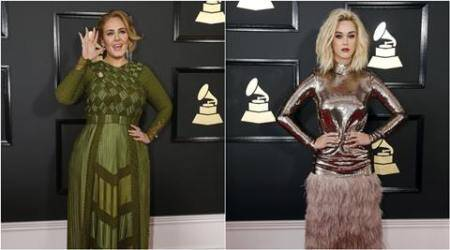 grammys 2017, grammy awards 2017, grammy best dressed, beyonce, lady gaga, rihanna, chrissy teigen, grammys worst dressed, best dresed worst dressed celebs grammys, worst dressed grammy celebs, lady gaga, katy perry, ceelo green, girl crush artist, indian express, indian express news