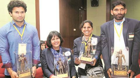 Haryana: Wait ends, 42 sportspersons conferred Bhim Awards