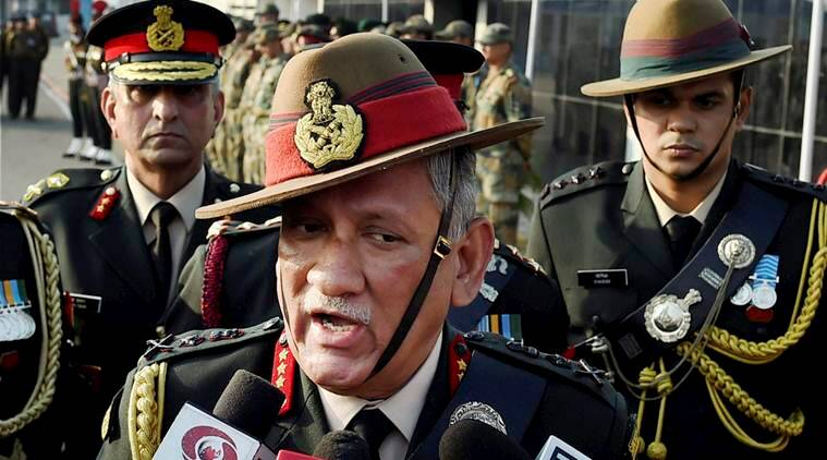 Bipin Rawat, Army Chief, Indian army chief, stone pelters, Kashmir, Kashmir valley, three soldiers dead in Kashmir valley, Bipin Rawat-Kashmir, bipin rawat warning to stone pelters, Bandipore, National Conference, PDP, BJP, Congress, separatists, India news, Indian Express