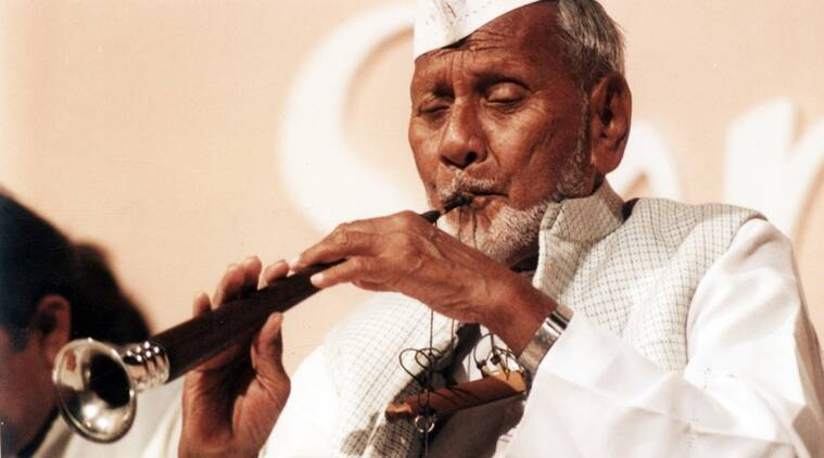 The day the music died: Ustad Bismillah Khan breathed magic into the wind instrument. (Source: Express archive)